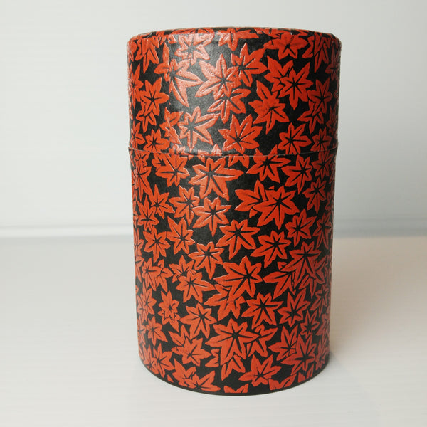 Tea Container - Red Leaves