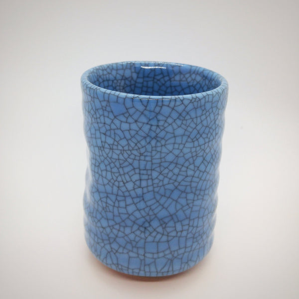 Japanese Tea Cup - Blue Crackle