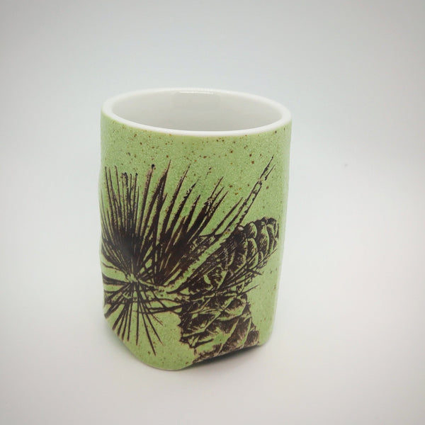 Japanese Tea Cup - Pinecones