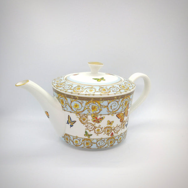 Ceramic Teapot - Butterfly Gold