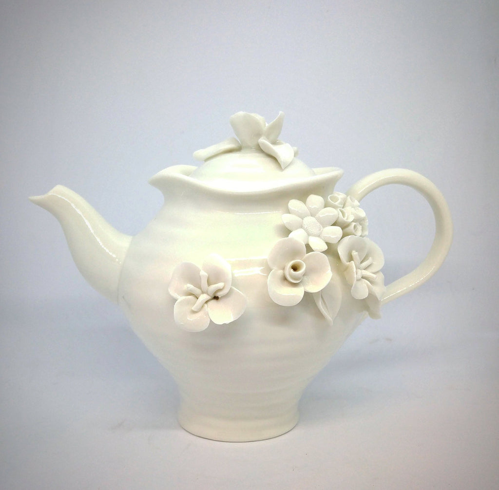 Ceramic Teapot - Pure White