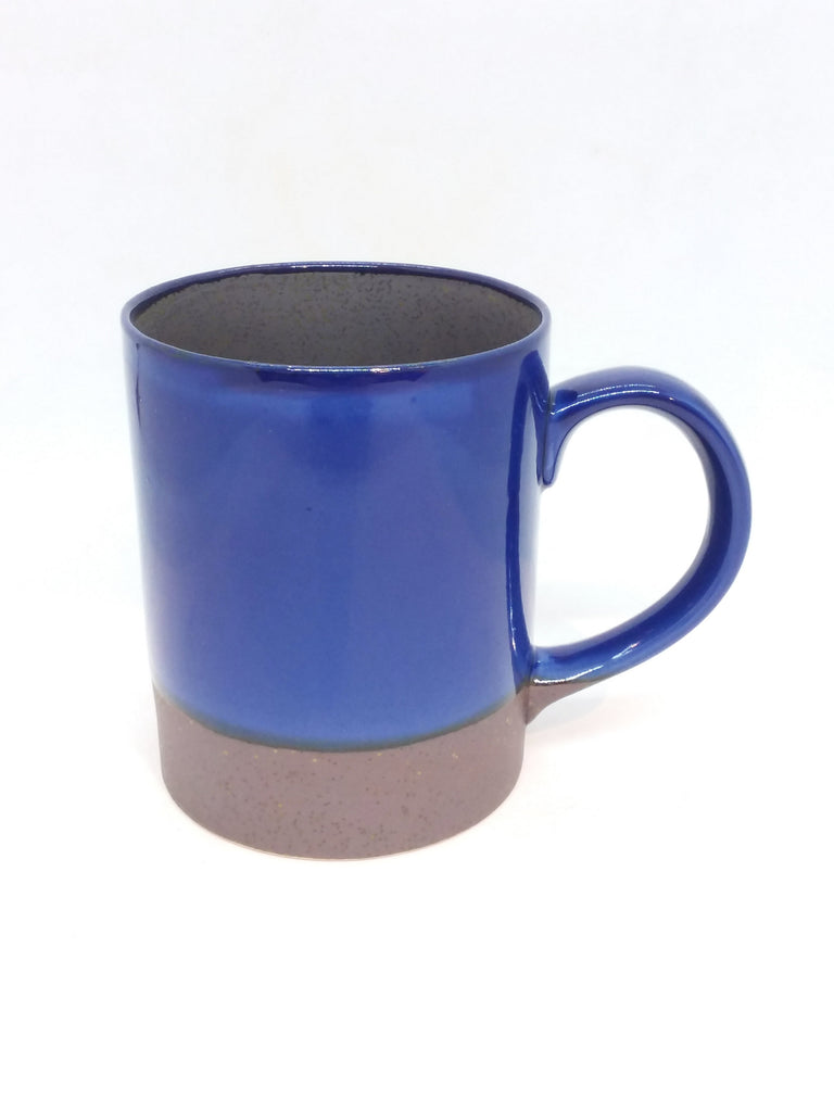Japanese mug- Handle Solid Blue
