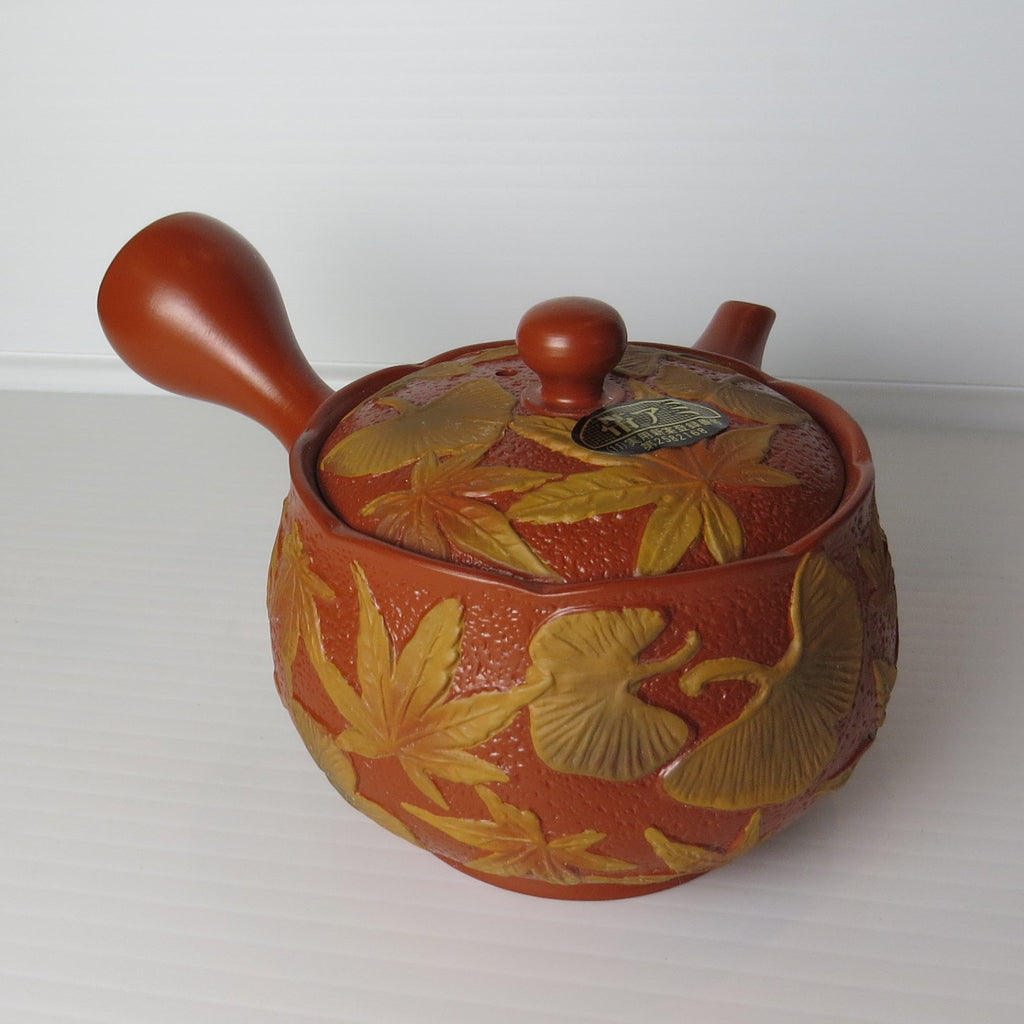 Kyusu Japanese Teapot - Japanese Maple Leaf