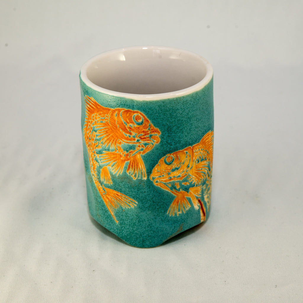 Japanese Tea Cup - Green Scales - The Naked Leaf Calgary