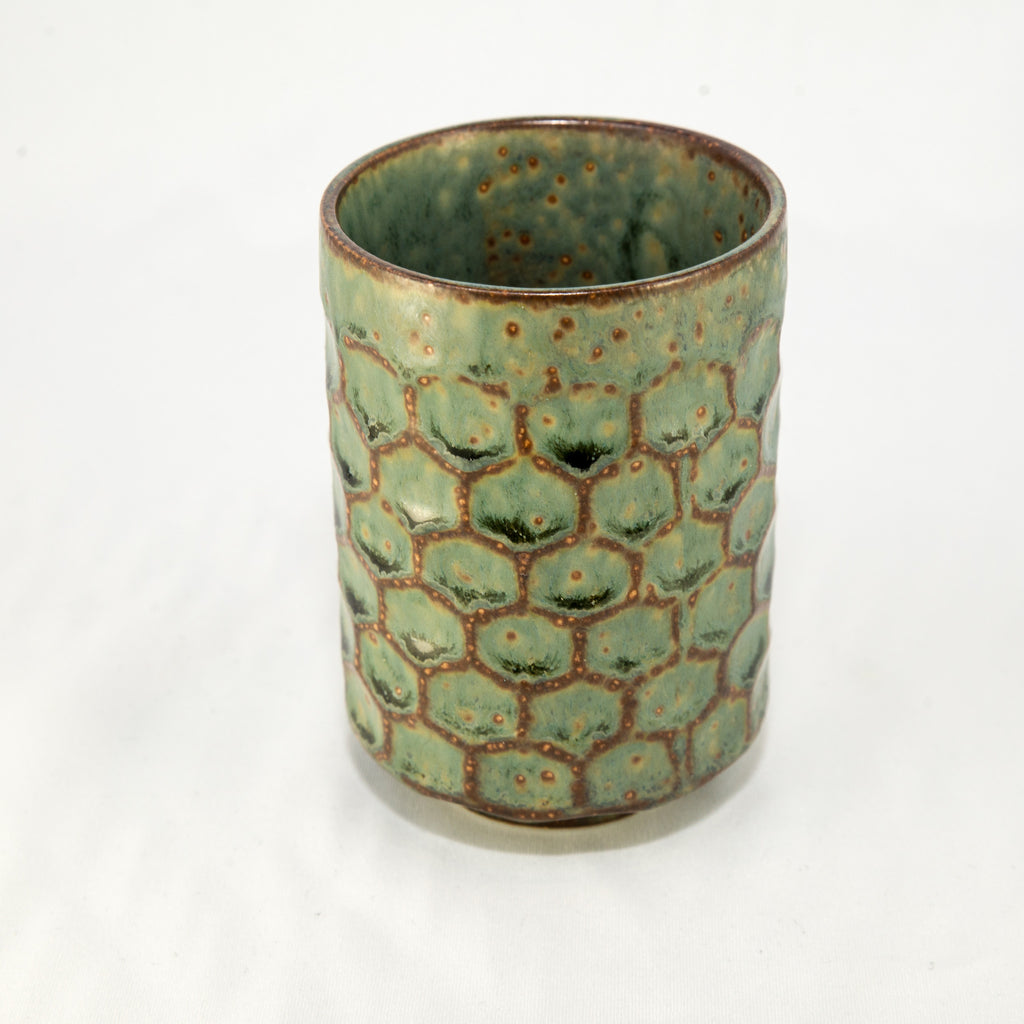 Japanese Tea Cup - Green Scales