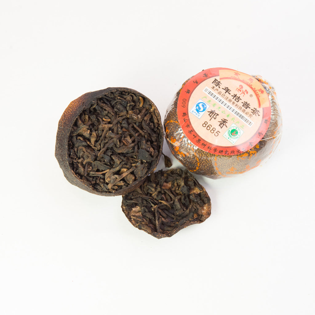 Tangerine Stuffed with Ripe Pu-erh