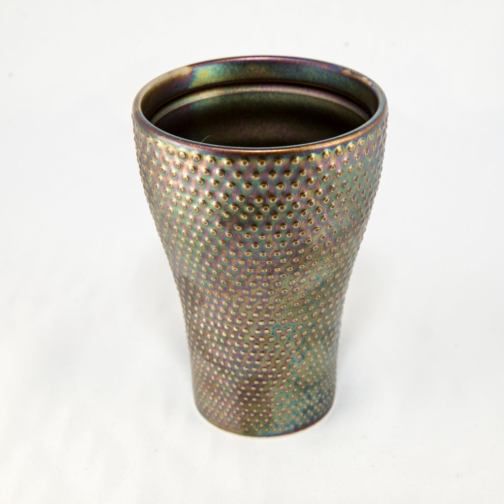 Japanese Tea Cup - Iridescent Hobnail
