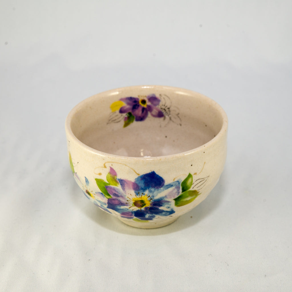 Japanese Tea Cup - Flower Blue/Lavender