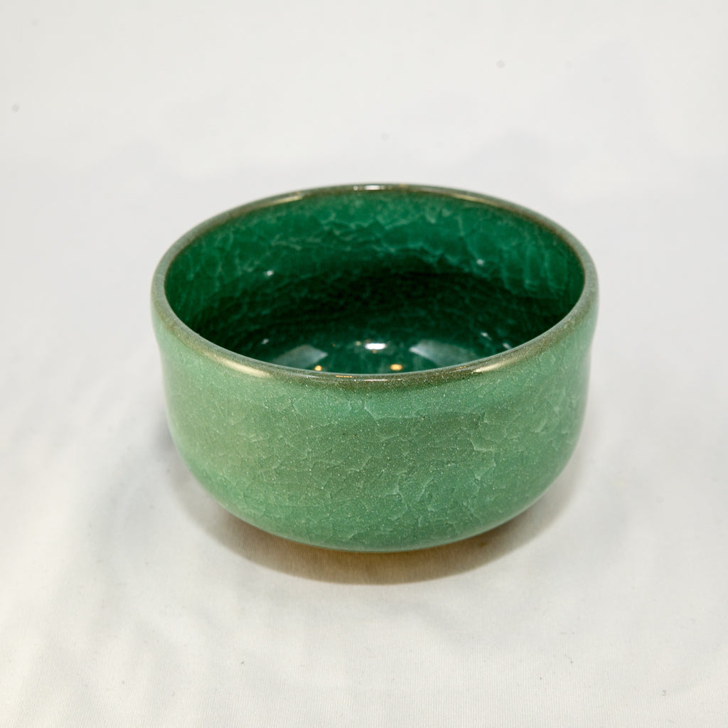 Matcha Bowl - Green Crackle