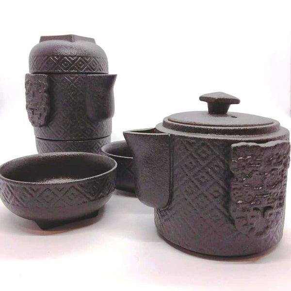 Stackable Tea Set - Black