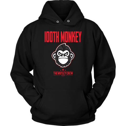 100th Monkey Red Hoodie