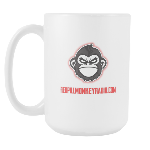 Red Pill Monkey Mug Large