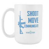 Shoot Move Communicate AR-15 Mug Large