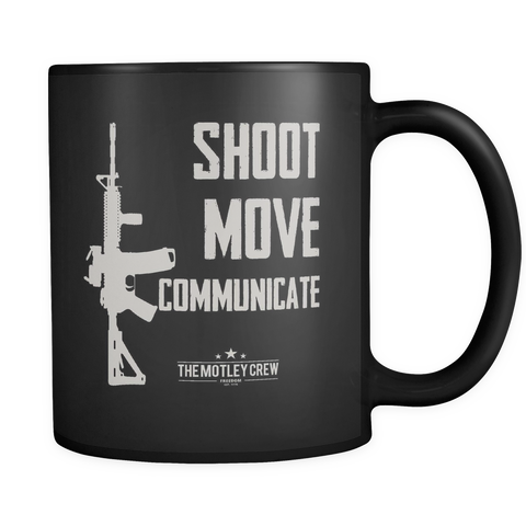 Shoot Move Communicate AR-15 Mug