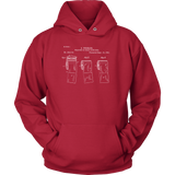Toilet Paper Roll Patent Hoodie