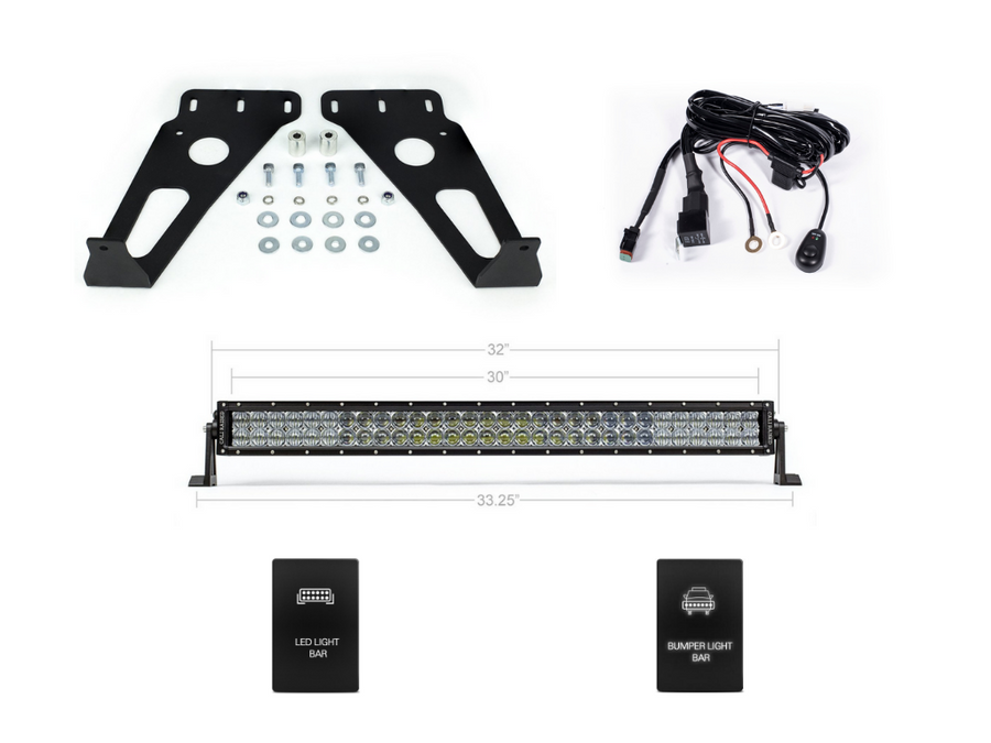 2014-2020 Toyota 4Runner 32 Hidden Grille LED Light Bar Brackets/Combo - Cali Raised LED