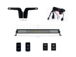 "2003-2009 Toyota 4Runner 32"" Lower Bumper Flush LED Light Bar Brackets/Combo - Cali Raised LED"