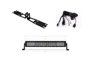 "2010-2018 Dodge 2500/3500 22"" Bumper Hidden LED Light Bar Brackets/Combo - Cali Raised LED"