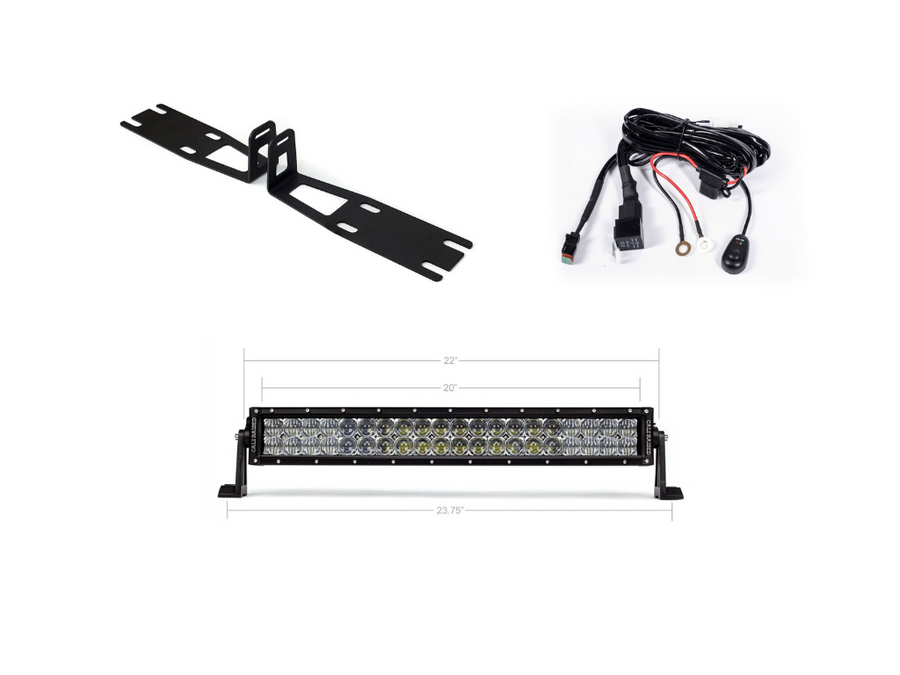 2010-2018 Dodge 2500/3500 22 Bumper Hidden LED Light Bar Brackets/Combo - Cali Raised LED