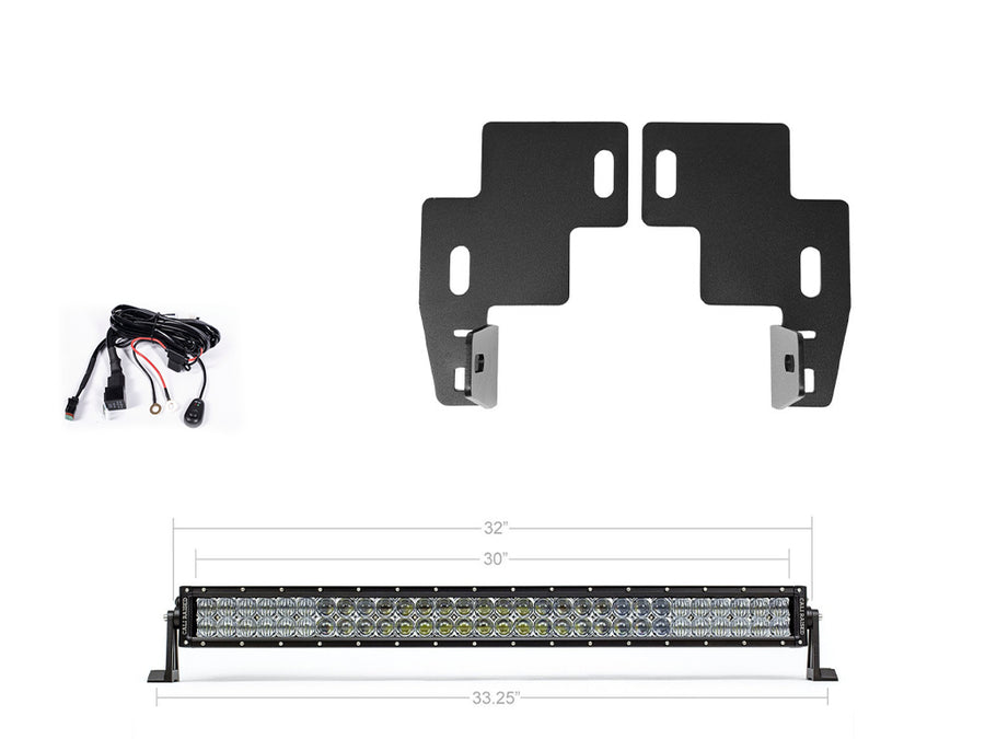 2014-2020 Chevy Colorado 32 Lower Bumper Hidden LED Light Bar Brackets/Combo - Cali Raised LED