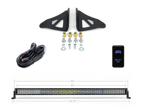 "2005-2021 Toyota Tacoma 52"" Curved LED Light Bar Roof Brackets Kit"