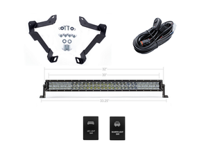 "2014-2020 Toyota Tundra 32"" Lower Bumper Hidden LED Light Bar Brackets/Combo - Cali Raised LED"