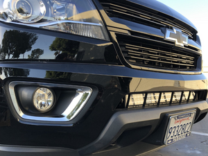 "2014-2020 Chevy Colorado 32"" Lower Bumper Hidden LED Light Bar Brackets/Combo - Cali Raised LED"