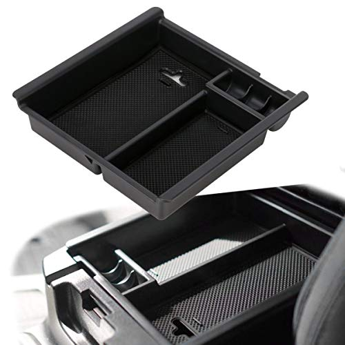 Richeer Compatible with 2016 2017 2018 2019 2020 Toyota Tacoma Accessories Center Console Organizer Tray Armrest Box Secondary Storage Fit for Tacoma