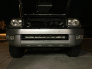 "2003-2009 Toyota 4Runner 32"" Lower Bumper Hidden LED Light Bar Brackets/Combo - Cali Raised LED"