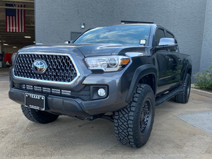 "2005-2020 Toyota Tacoma 0 Degree ""Step"" Rock Sliders - Cali Raised LED"