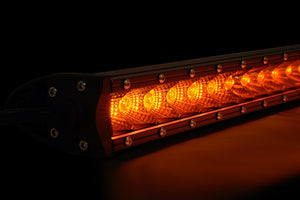 Slim Single Row LED Bar (Amber)