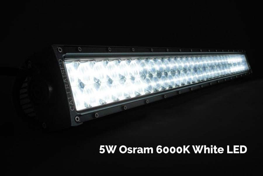 "42"" Curved Dual Row 5D Optic OSRAM LED Bar - Cali Raised LED"