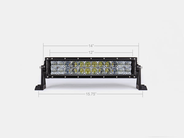 "14"" Dual Row 5D Optic OSRAM LED Bar"