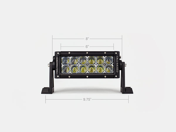 "8"" Dual Row 5D Optic OSRAM LED Bar"