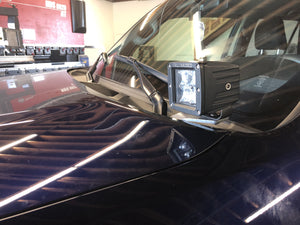 2010-2020 Lexus GX 460 Low Profile LED 2x2 pod Ditch Light Mounted to Blue Vehicle - Cali Raised LED