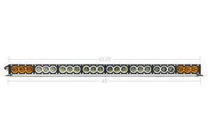 Dual Function Amber/White LED Light Bar Prinsu Mounting Combo - Cali Raised LED
