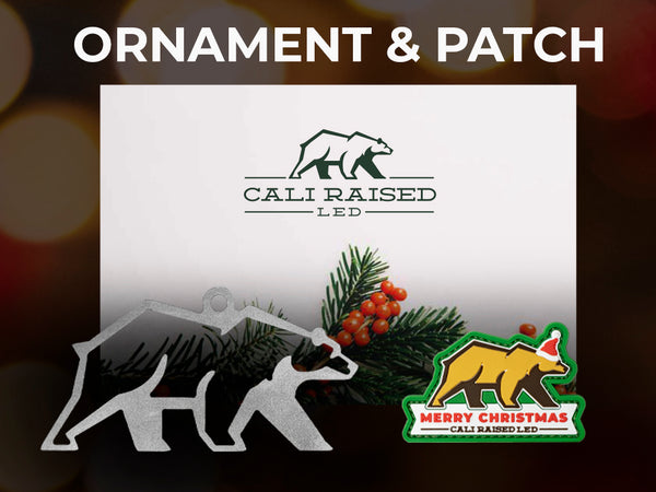 Limited Edition Patch Christmas & Bear Ornament - Combo Pack
