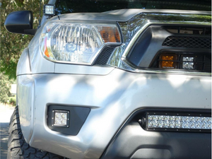 2012-2015 Toyota Tacoma LED Fog Light Pod Replacements Brackets/Combo - Cali Raised LED