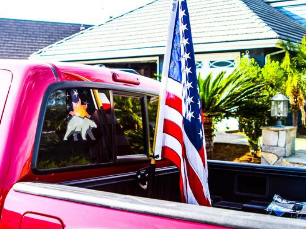 Toyota Truck Bed Rail Flag Pole Mount