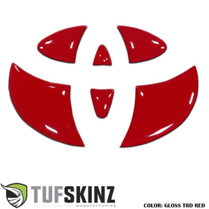 Steering Wheel Emblem Inserts Fits 2006-2014 Toyota FJ Cruiser *OE Color - Gloss TRD Red