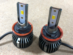 Close up of Tri-Color Fog Light Replacement Bulbs - Cali Raised LED