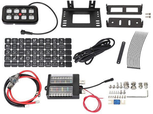 Vehicle Accessory 8 Switch Control System (Blue Backlighting)