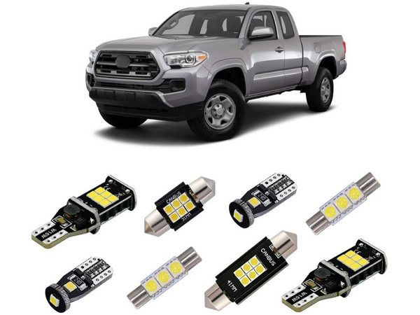 2016-2020 Toyota Tacoma 9-Piece Interior LED Light Kit - Cali Raised LED