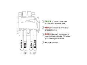 Wiring Diagram - Toyota OEM style bumper light bar switch - Cali Raised LED