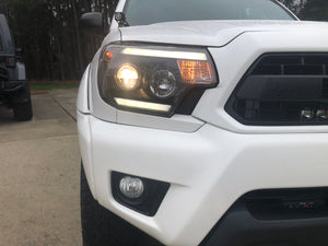 2012-2015 Toyota Tacoma Blacked Out Headlights - Cali Raised LED