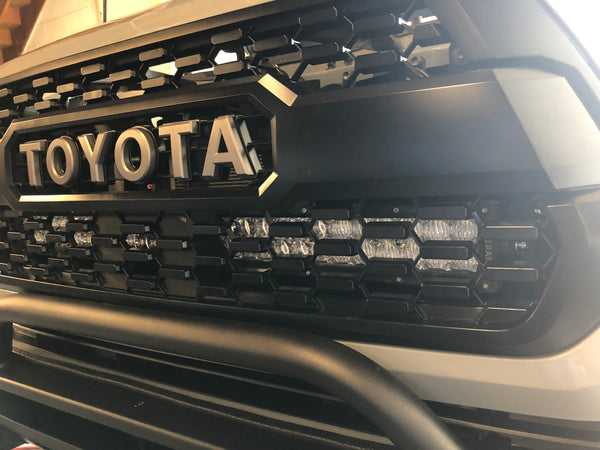 2016-2020 Toyota Tacoma Hidden Grille LED Light Bar Combo - Cali Raised LED