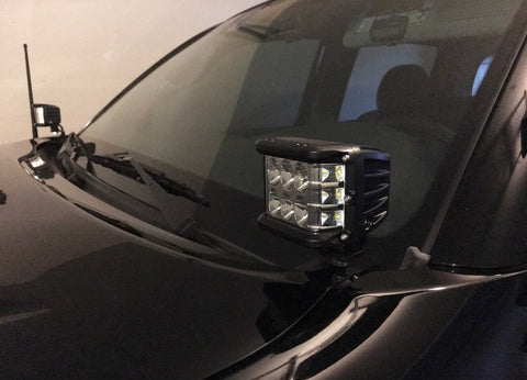 2014-2019 Toyota Tundra Lo Profile Ditch Light Brackets - Cali Raised LED
