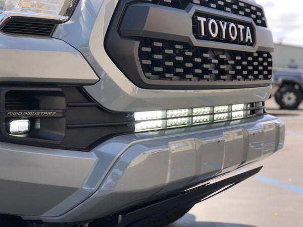 "2016-2020 Toyota Tacoma 32"" Lower Bumper Hidden LED Light Bar Brackets/Combo - Cali Raised LED"