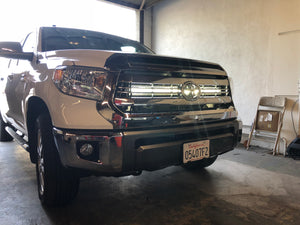 "2014-2020 Toyota Tundra 42"" Curved LED Light Bar Hidden Grille Combo - Cali Raised LED"
