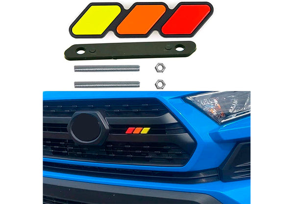 4Runner, Tacoma, Tundra, Tri-Color Badge Emblem Decoration